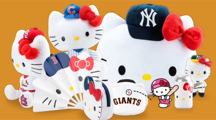 Hello Kitty x MLB merchandise