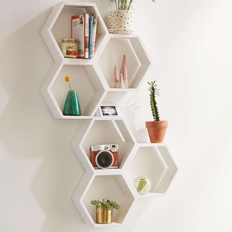 Triple Honeycomb Wooden Shelf From Urban Outfitters