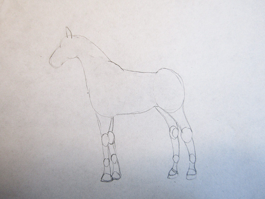 how to draw cool stuff horse step 2