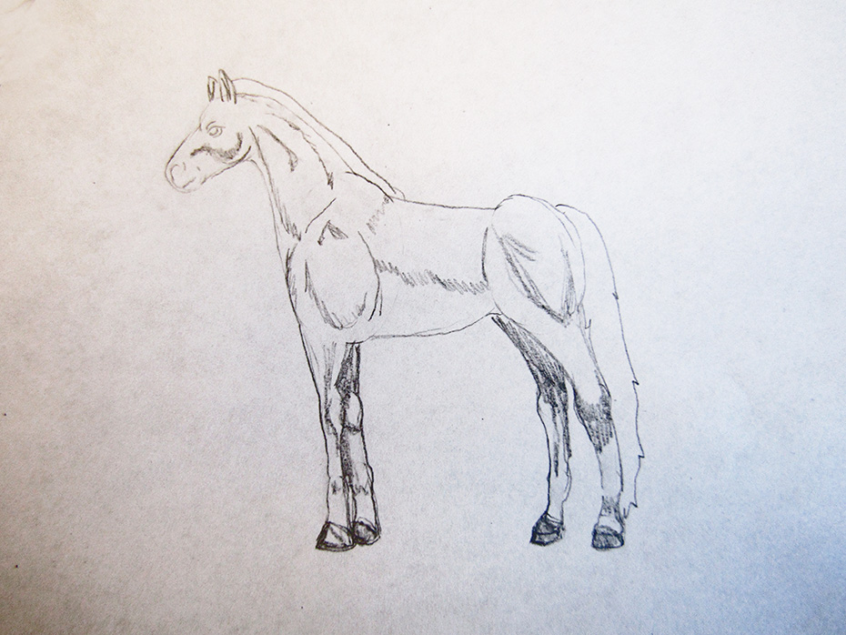 how to draw cool stuff horse step 3