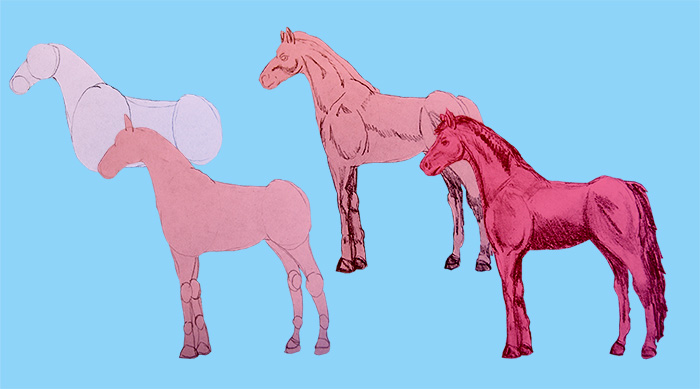 how to draw cool stuff horse steps