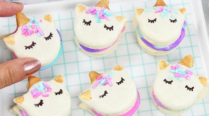 Kawaii Sweet World unicorn macarons
