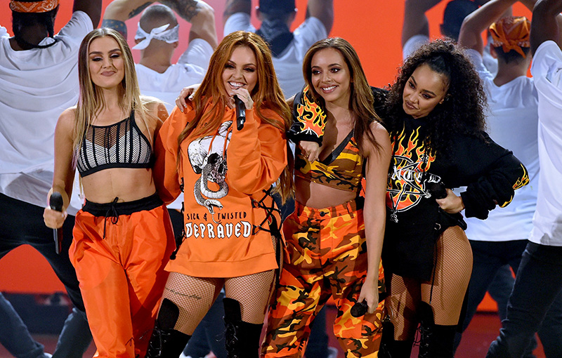 Little Mix performing at the Nickelodeon Kids' Choice Awards