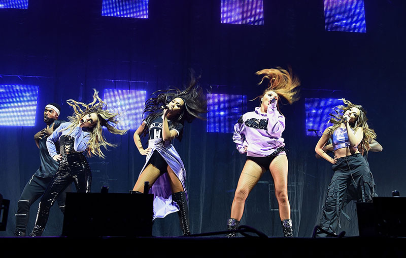 Little Mix performing onstage