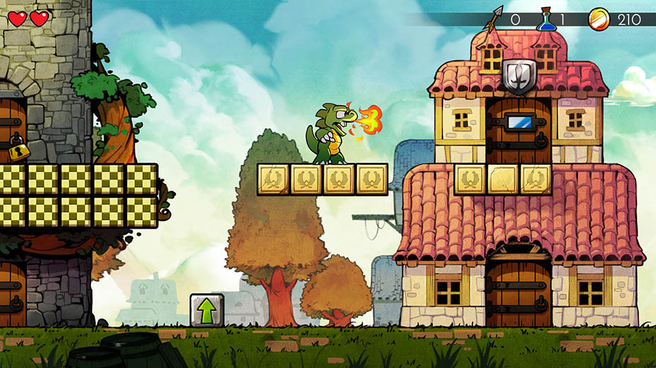 Wonder Boy: The Dragon's Trap lizard