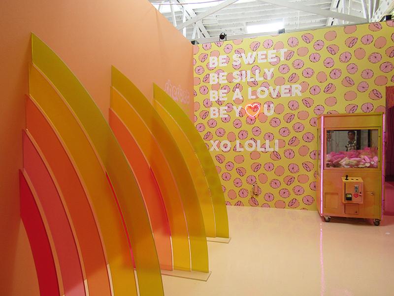Lolli Swimwear quote in the Museum of Ice Cream