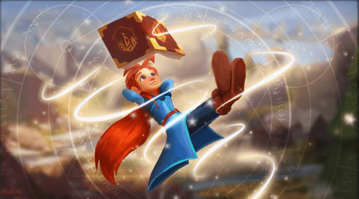 Mages of Mystralia girl reading spellbook