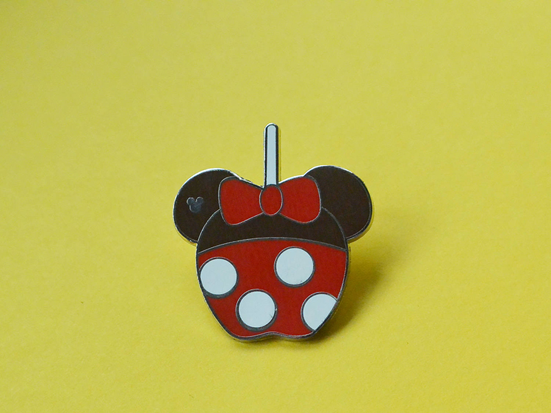 Minnie Mouse-inspired caramel apple pin