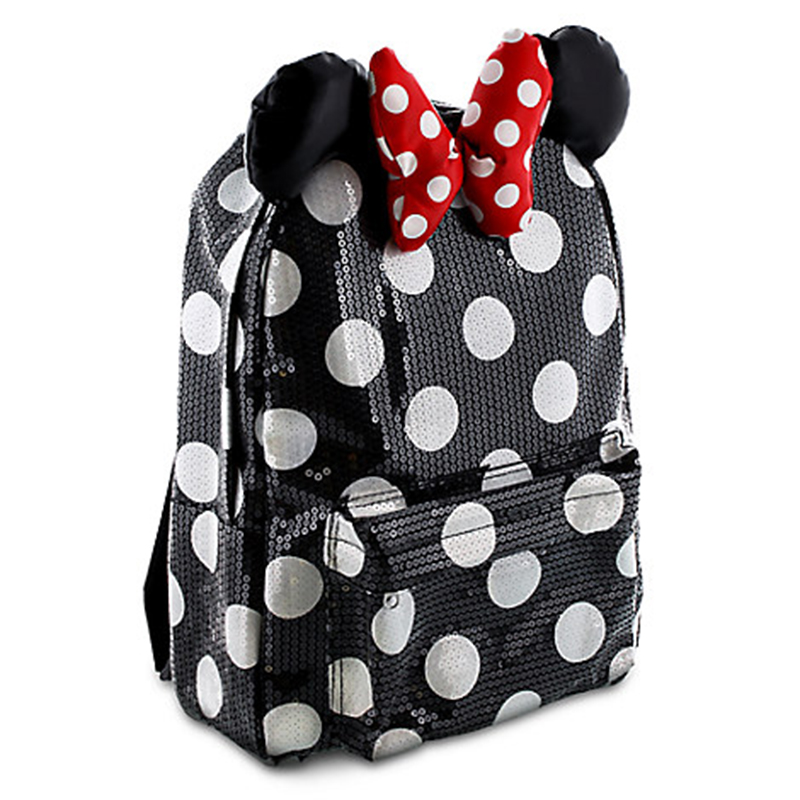 Sequined Minnie Mouse-inspired backpack