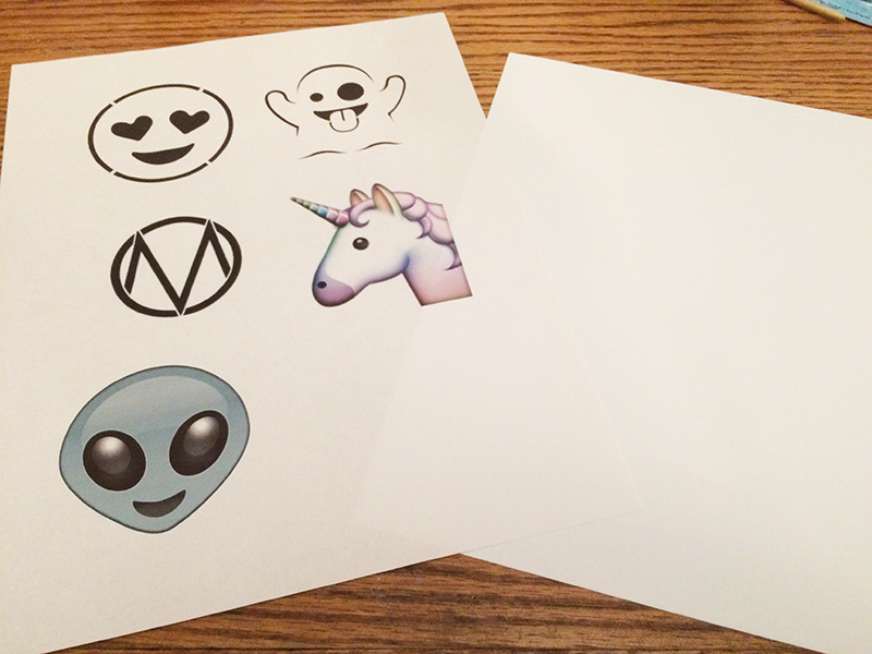 Pictures of emojis to be traced