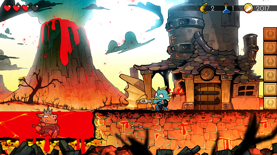 Wonder Boy: The Dragon's Trap piranha