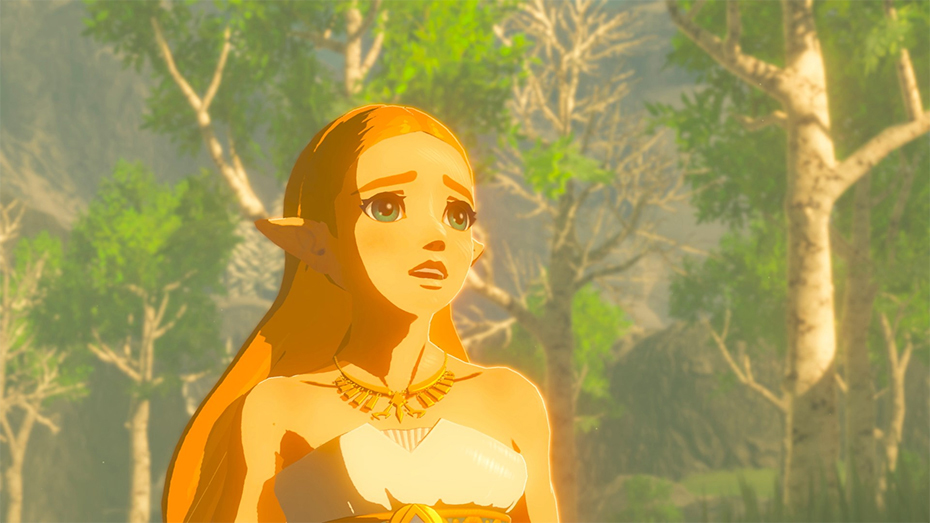 The Legend of Zelda: Breath of the Wild - Zelda in white dress