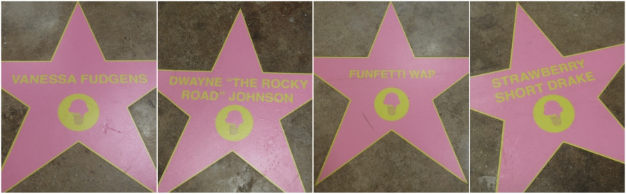 Walk of fame stars at the Museum of Ice Cream