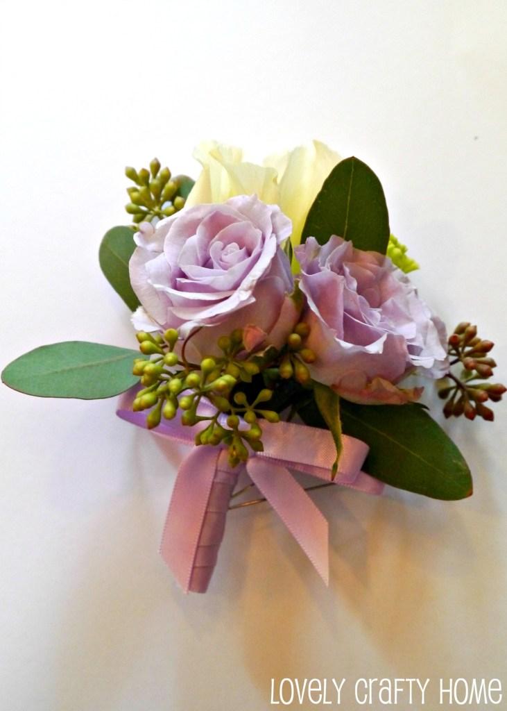 DIY Classic purple corsage