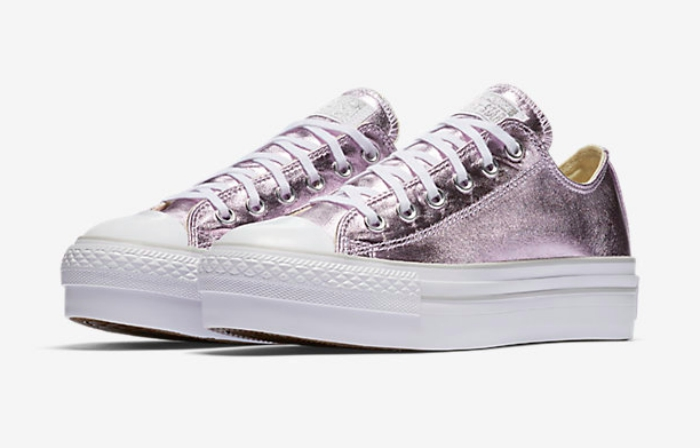 Purple metallic converse
