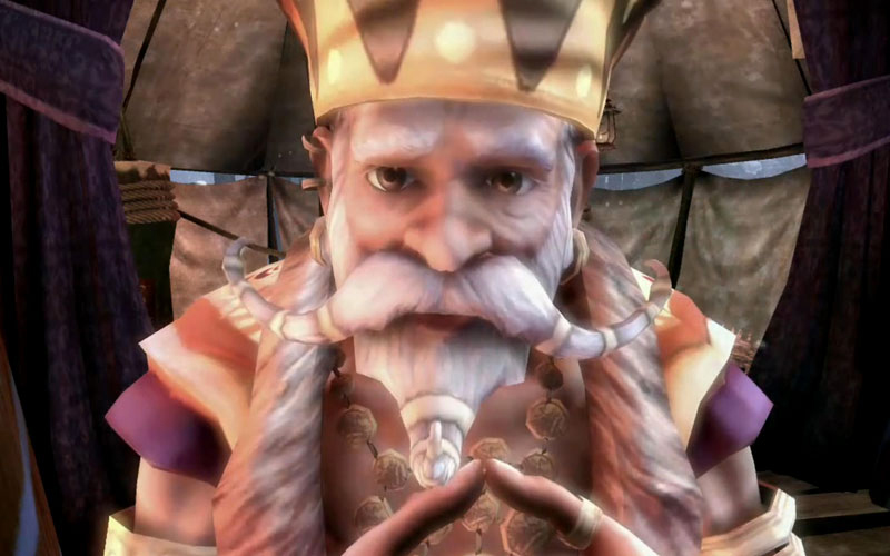 Sabine, voiced by Ben Kingsley, in Fable 3