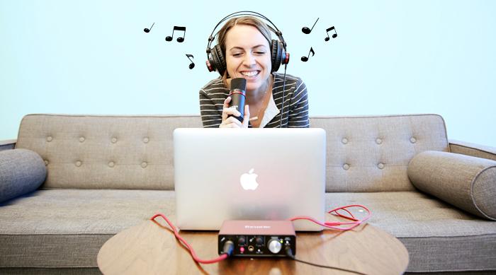 Brittney playing with Scarlett Studios system