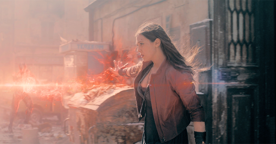 Elizabeth Olsen as the Scarlet Witch in Age of Ultron
