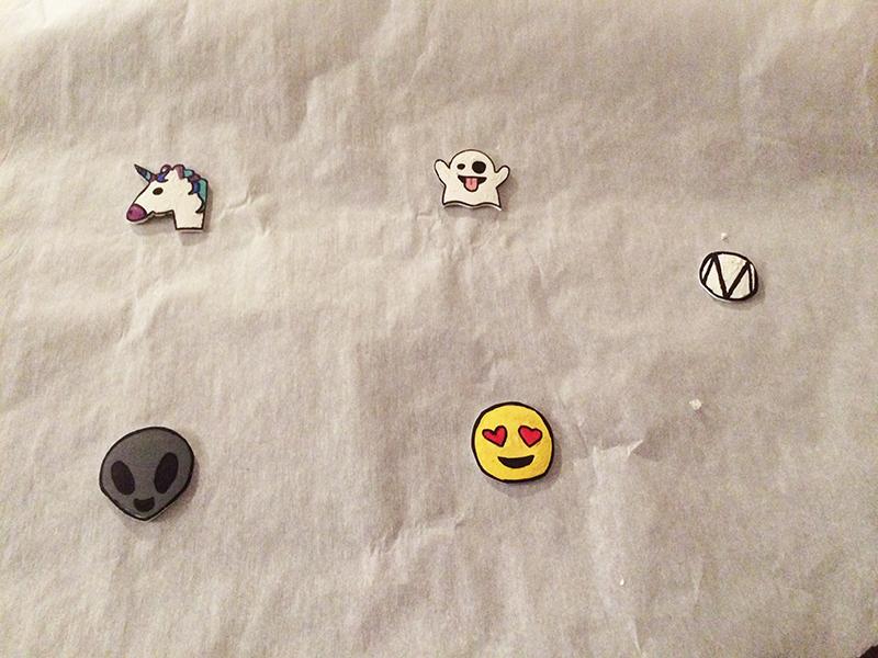 Lapel pins shrunken down