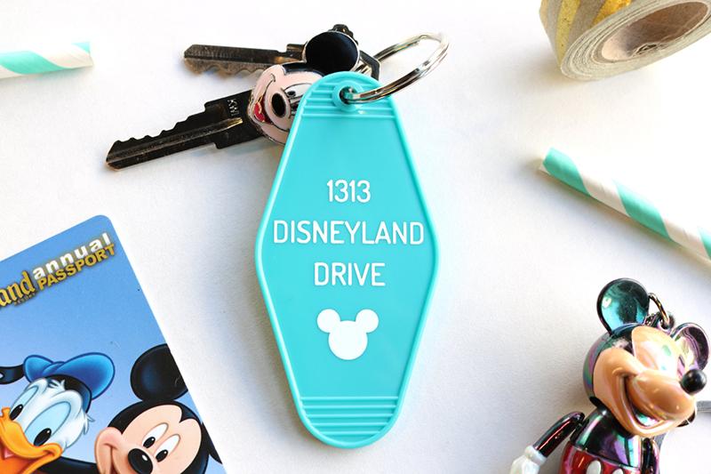 1313 Disneyland Drive turquoise keychain