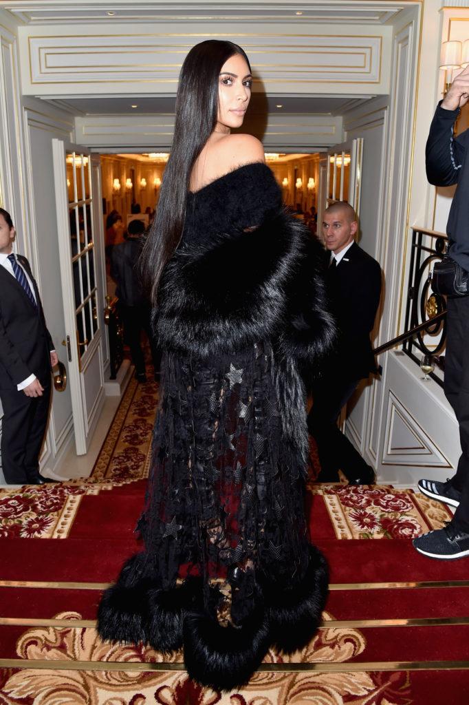 Kim Kardashian Long Hair NYFW 2016