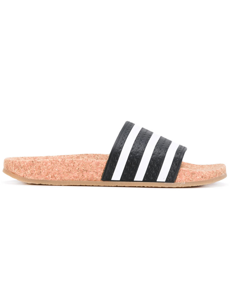 Adidas pool slide striped