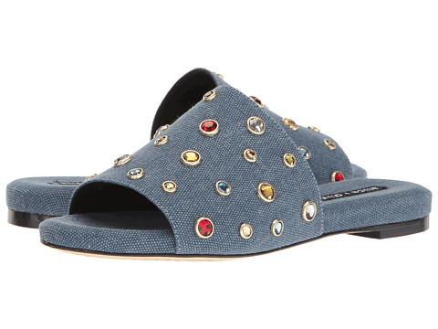Alice Olivia Denim Slide Sandals