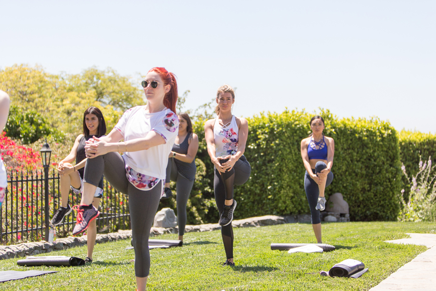 Calia by Carrie Underwood Malibu workout event
