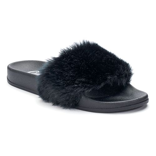 Faux Fur fashion slides candies kohls