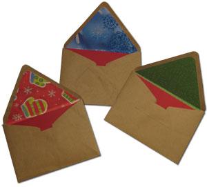 Paper bag envelopes DIY