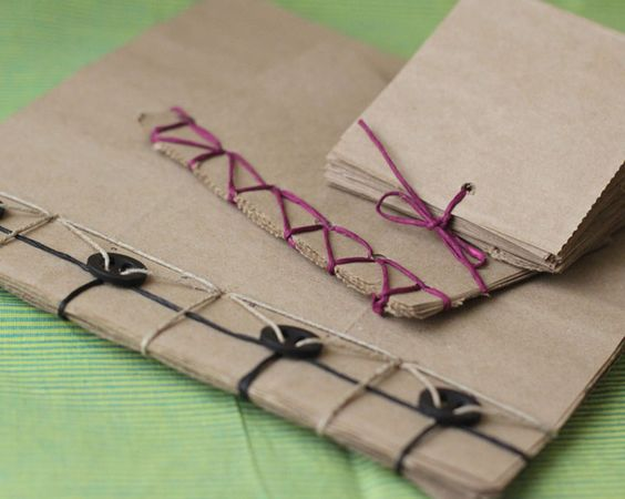 Paper bag recycled notebook