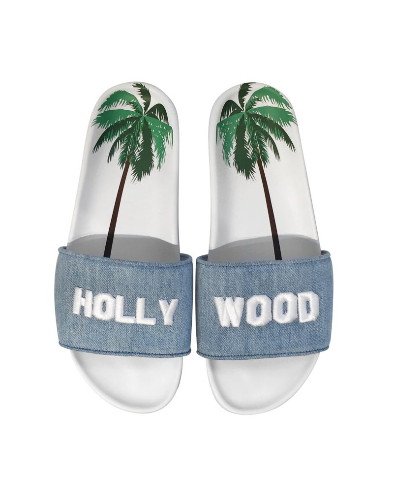 Joshua Sanders Hollywood Sign Denim Flats
