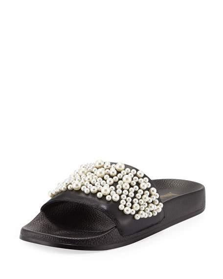 Neiman Marcus Pearl Slide Sandal