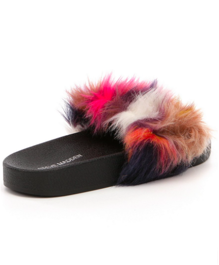 Steve Madden Faux Fur Multi Color slide