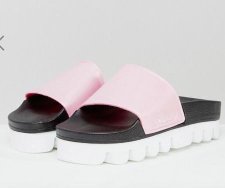 ASOS pink sporty slide sandal