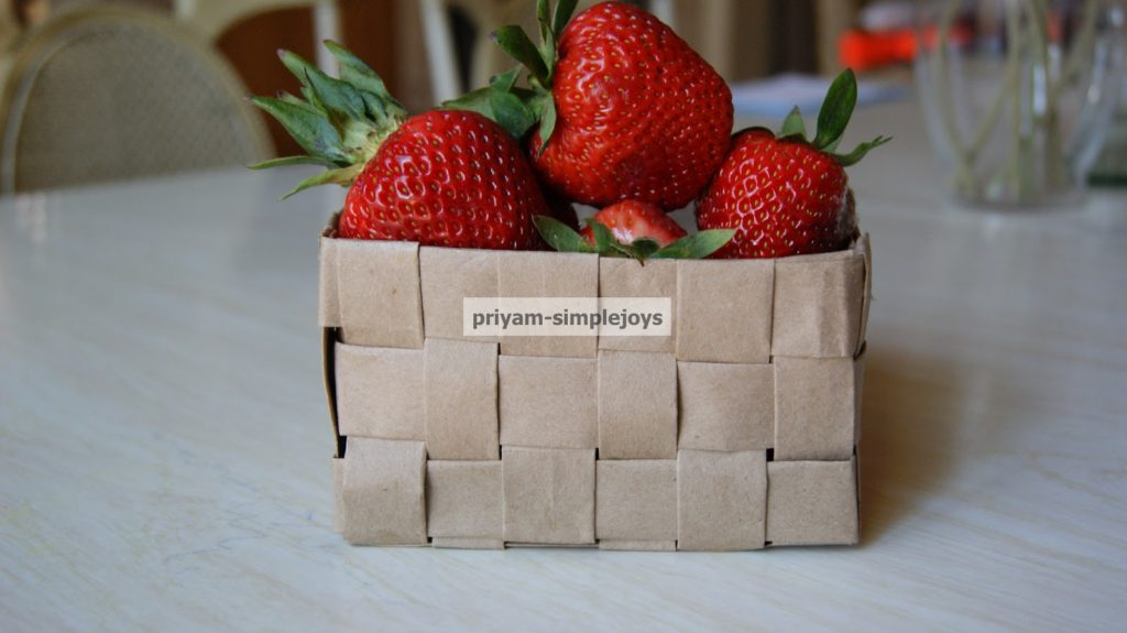 Paper bag recycled woven basket