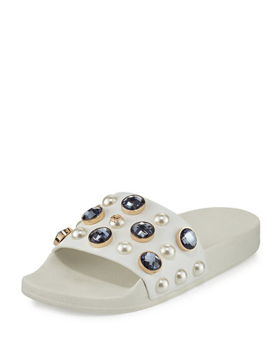 Tory Burch jewel slide sandal