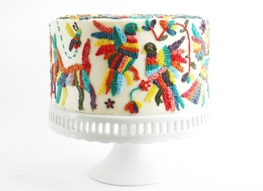 Alana Jones-Mann cake with otomi decoations