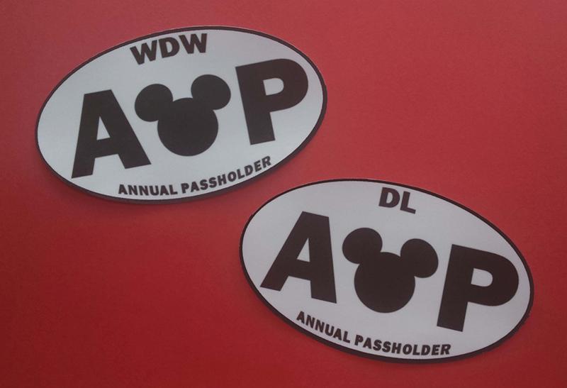 Disneyland annual passholder bumper sticker