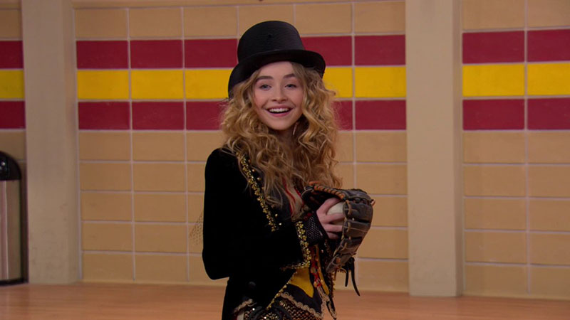 Maya from Disney Channel's Girl Meets World throwing a ball