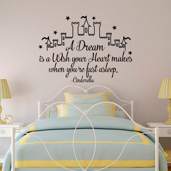 Cinderella-inspired bedroom wall decal