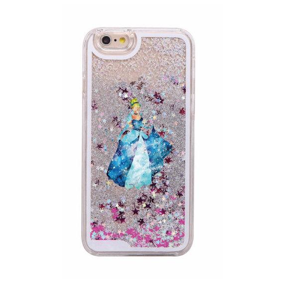 Cinderella glitter phone case
