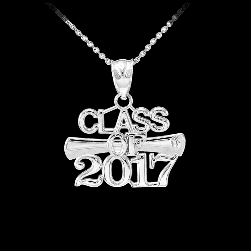 Class of 2017 sterling silver necklace