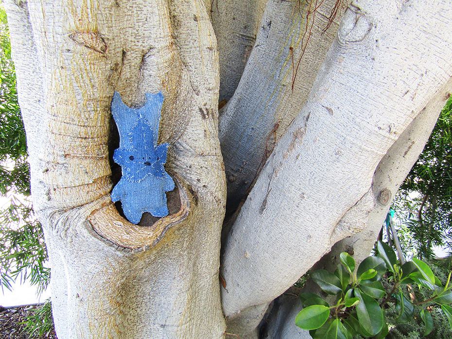 finished korok plushie hiding in tree