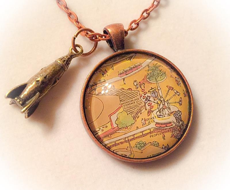 Disneyland land necklace