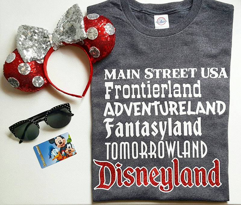 Disneyland lands t-shirt