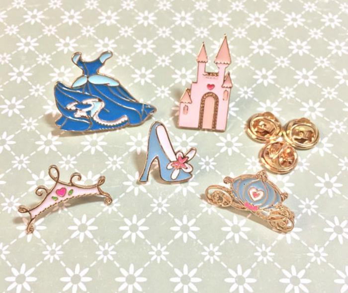 Cinderella Enamel Pins