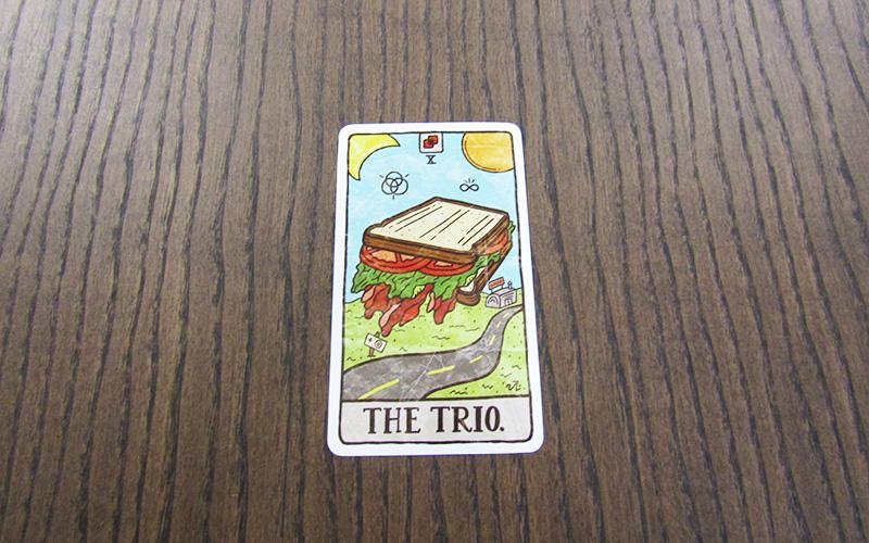 BLT food tarot card