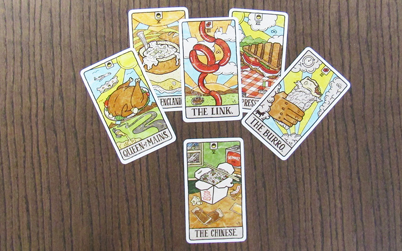 Deck of Food Fortunes tarot cards
