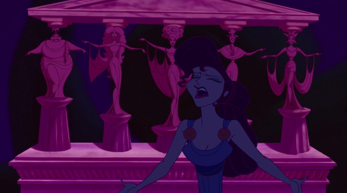 "Megara singing, ""I Won't Say I'm in Love' from Hercules"